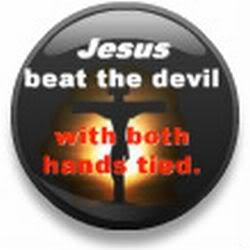 JESUSBEATTHEDEVILWITHBOTHHANDSTIED